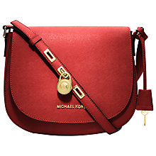 Buy MICHAEL Michael Kors Hamilton Large Messenger Leather Handbag Online at johnlewis.com