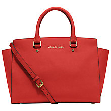 Buy MICHAEL Michael Kors Selma Top-Zip Leather Satchel Bag Online at johnlewis.com