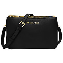 Buy MICHAEL Michael Kors Bedford Gusset Small Leather Across Body Bag Online at johnlewis.com