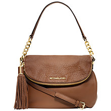 Buy MICHAEL Michael Kors Weston Convertible Leather Shoulder Handbag, Luggage Online at johnlewis.com