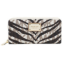 Buy MICHAEL Michael Kors Jet Set Continental Purse, Zebra Online at johnlewis.com