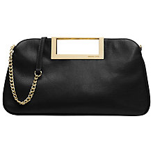 Buy MICHAEL Michael Kors Berkley Leather Clutch Handbag, Black Online at johnlewis.com