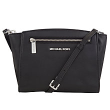 Buy MICHAEL Michael Kors Sophie Leather Medium Messenger Handbag Online at johnlewis.com