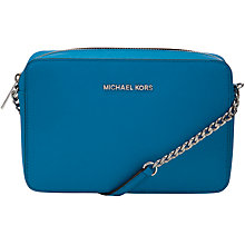 Buy MICHAEL Michael Kors Jet Set Travel Leather Across Body Handbag Online at johnlewis.com