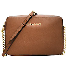 Buy MICHAEL Michael Kors Jet Set Travel Leather Across Body Bag Online at johnlewis.com