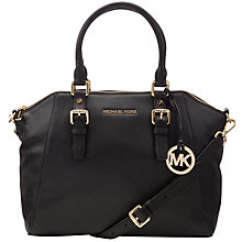 Buy MICHAEL Michael Kors Bedford Large Leather Satchel Online at johnlewis.com