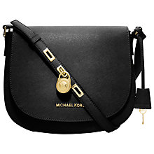 Buy MICHAEL Michael Kors Hamilton Large Messenger Leather Bag Online at johnlewis.com