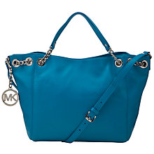 Buy MICHAEL Michael Kors Jet Set Chain Gathered Leather Tote Handbag Online at johnlewis.com