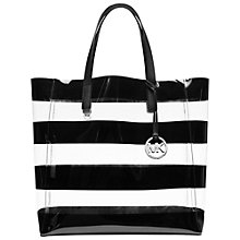 Buy MICHAEL Michael Kors Eliza Shopper, Black/White Online at johnlewis.com