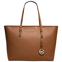 Buy MICHAEL Michael Kors Jet Set Leather Travel Tote Handbag Online at johnlewis.com