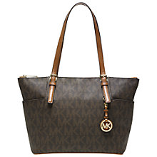 Buy MICHAEL Michael Kors Jet Set Tote Leather Handbag Online at johnlewis.com