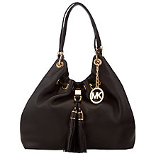 Buy MICHAEL Michael Kors Middleton Large Drawstring Shoulder Bag, Black Online at johnlewis.com