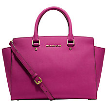 Buy MICHAEL Michael Kors Selma Leather Travel Satchel Handbag Online at johnlewis.com