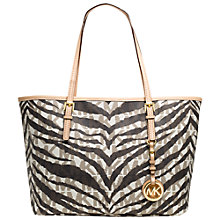 Buy MICHAEL Michael Kors Jet Set Travel Small Tote Handbag, White Online at johnlewis.com