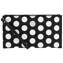 Buy MICHAEL Michael Kors Polka Dot Leather Zip Clutch Purse, Black Online at johnlewis.com