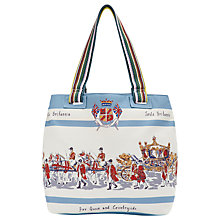 Buy Joules Creme Her Majesty Print Canvas Tote Bag, Multi Online at johnlewis.com