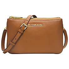Buy MICHAEL Michael Kors Bedford Gusset Leather Small Across Body Bag Online at johnlewis.com