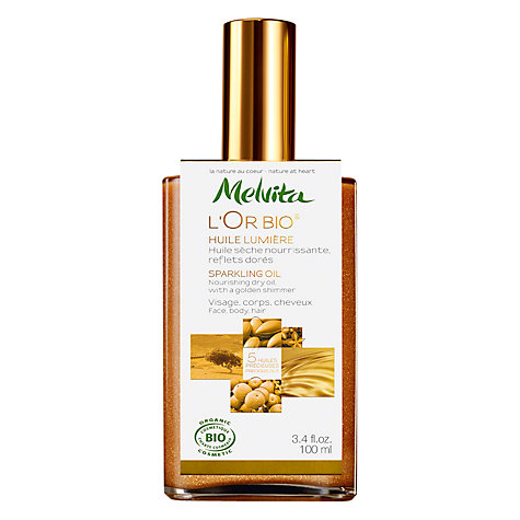 Buy Melvita L'or Bio Sparkling Oil, 100ml Online at johnlewis.com