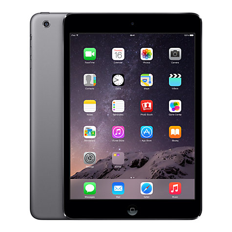 "Buy Apple iPad mini, Apple A5, iOS 7, 7.9"", Wi-Fi & Cellular, 16GB, Space Grey Online at johnlewis.com"