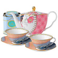 Buy Wedgwood Butterfly Bloom Teapot with Orange Cup and Saucer Set + FREE matching Cup and Saucer Set and Tea Caddy Online at johnlewis.com