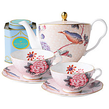 Buy Wedgwood Cuckoo Teapot with Pink Cup and Saucer Set + FREE matching Cup and Saucer Set and Tea Caddy Online at johnlewis.com