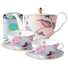 Buy Wedgwood Cuckoo Teapot with Blue Cup and Saucer Set + FREE matching Cup and Saucer Set and Tea Caddy Online at johnlewis.com