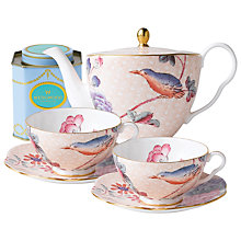 Buy Wedgwood Cuckoo Teapot with Peach Cup and Saucer Set + FREE matching Cup and Saucer Set and Tea Caddy Online at johnlewis.com