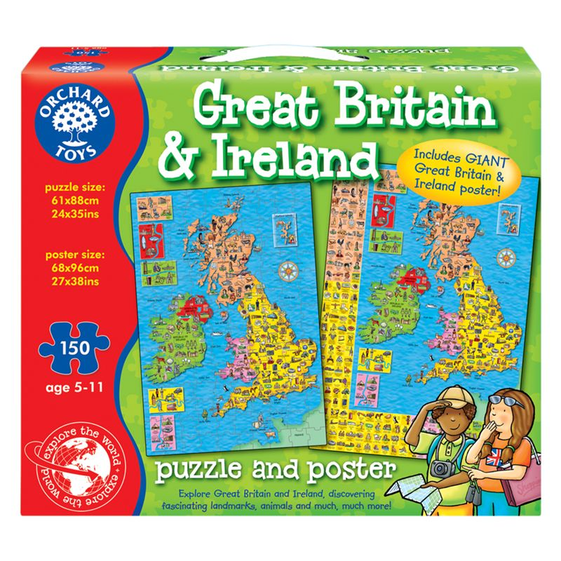 Orchard Toys Orchard Toys Great Britain & Ireland Jigsaw Puzzle & Poster