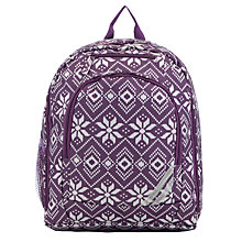 Buy John Lewis Patterned Backpack, Purple Online at johnlewis.com