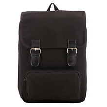 Buy John Lewis Canvas School Backpack, Black Online at johnlewis.com