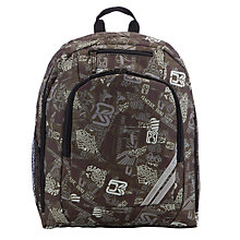 Buy John Lewis Repeat Print Backpack, Khaki Online at johnlewis.com