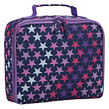 Buy John Lewis Junior Star Print Lunch Box, Purple/Multi Online at johnlewis.com
