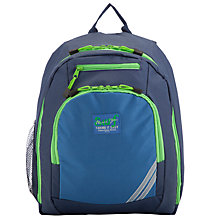 Buy John Lewis Junior Boys' Backpack with Badge, Blue Online at johnlewis.com