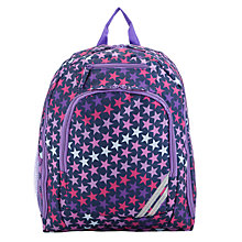 Buy John Lewis Junior Star Print Backpack, Purple/Multi Online at johnlewis.com