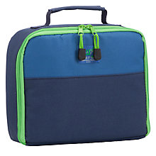 Buy John Lewis Junior Lunch Box, Navy/Green Online at johnlewis.com
