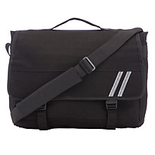 Buy John Lewis Canvas School Messenger Bag, Black Online at johnlewis.com