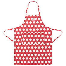 Buy Cath Kidston Big Spot Adjustable Apron, Red Online at johnlewis.com