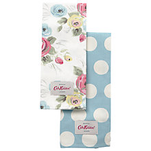 Buy Cath Kidston Painterly Rose and Big Spot Tea Towels, Set of 2 Online at johnlewis.com
