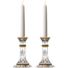 Buy Waterford Lismore Gold Candlesticks, Set of 2 Online at johnlewis.com