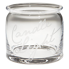 Buy John Lewis Fresh Flowers Tealight, Clear Online at johnlewis.com