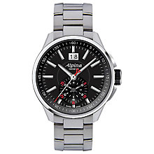 Buy Alpina AL-353B5AR36B Men's Racing Chronograph Stainless Steel Bracelet Watch Online at johnlewis.com