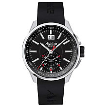 Buy Alpina AL-353B5AR36 Men's Racing Chronograph Rubber Strap Watch, Black Online at johnlewis.com