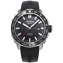 Buy Alpina AL-525LB4V6 Men's Sailing Yacht Timer Tactical Planner Automatic Rubber Strap Watch Online at johnlewis.com
