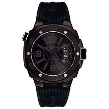 Buy Alpina AL-525LFB5FBAEV6 Men's Extreme Diver Automatic Rubber Strap Watch, Black Online at johnlewis.com