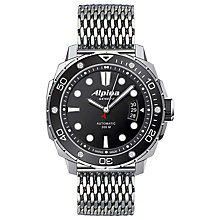 Buy Alpina AL-525LB4V36B2 Men's Extreme Diver 300 Automatic Stainless Steel Bracelet Watch Online at johnlewis.com