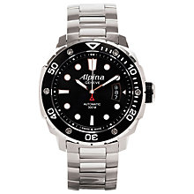 Buy Alpina AL-525LB4V36B  Men's Extreme Diver Geneve Automatic Stainless Steel Bracelet Watch Online at johnlewis.com