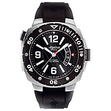 Buy Alpina AL-525LBB5AEV6 Men's Extreme Diver 1000 Automatic Rubber Strap Watch, Black Online at johnlewis.com