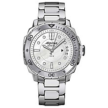 Buy Alpina AL-240LSD3V6B Men's Extreme Diving Stainless Steel Bracelet Watch Online at johnlewis.com