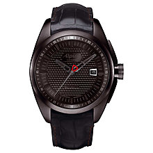 Buy Alpina AL-525B4FBRC6 Men's Club Automatic Leather Strap Watch, Black Online at johnlewis.com