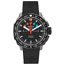 Buy Alpina AL-880LB4V6 Men's Sailing Regatta Automatic Rubber Strap Watch, Black Online at johnlewis.com